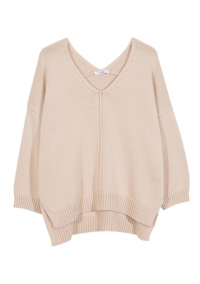 LEDREAM. - 3/4 sleeves coton blend jumper - ANGE