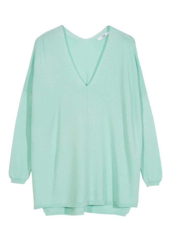 LAJAMAIC36 - Basic V-neck sweater in light fabric - ANGE