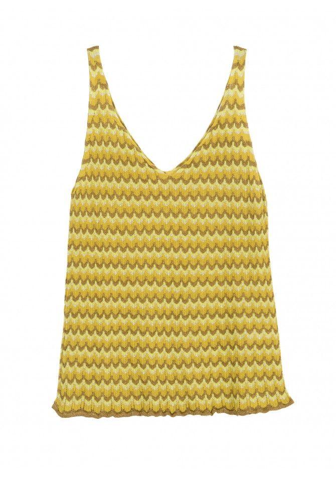LEPARADIS DIA - Light knit tank top - Reflect X Bari - ANGE
