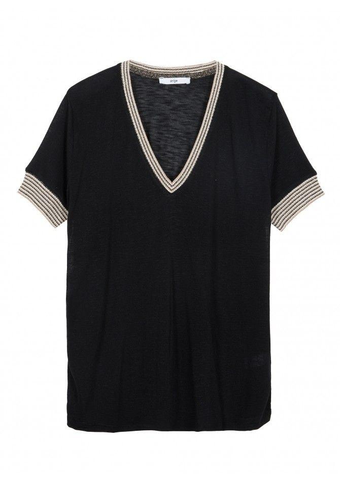 TROPIK - Short sleeves v-neckline t-shirt - ANGE