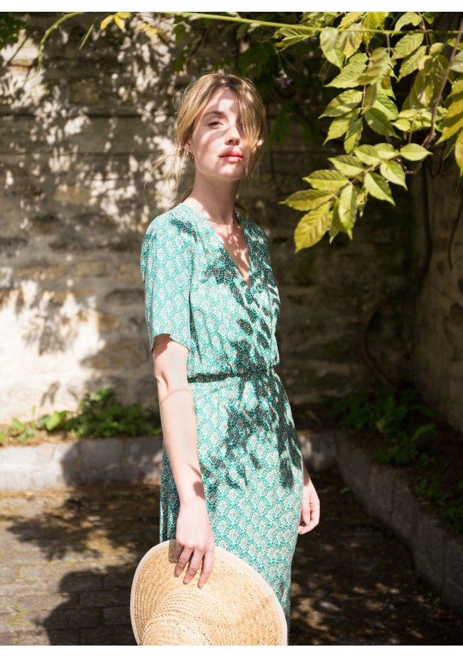 FLORENCE - Robe portefeuille imprimée - ANGE