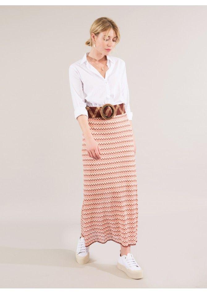 LAKOKO - Long light knit skirt - Reflect X Venezia - ANGE