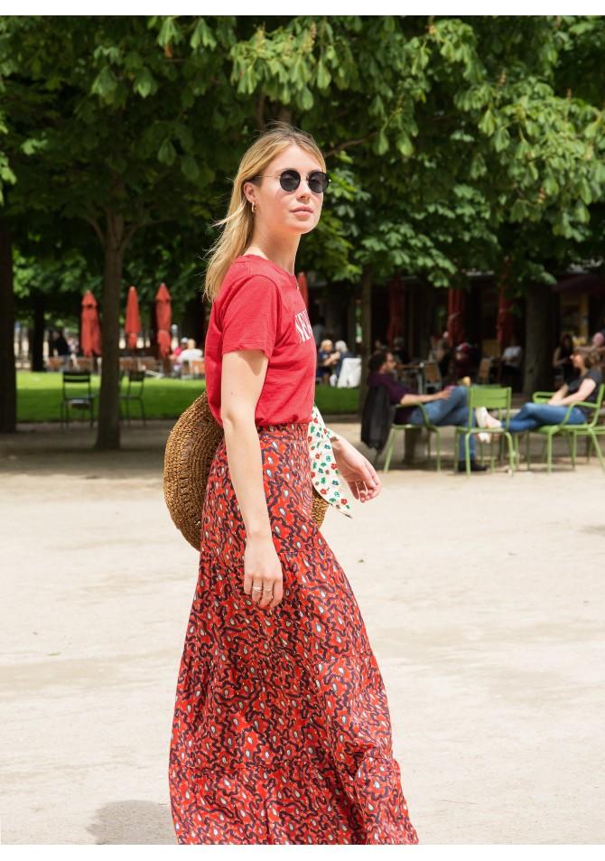 GILDA -Maxi printed skirt - ANGE