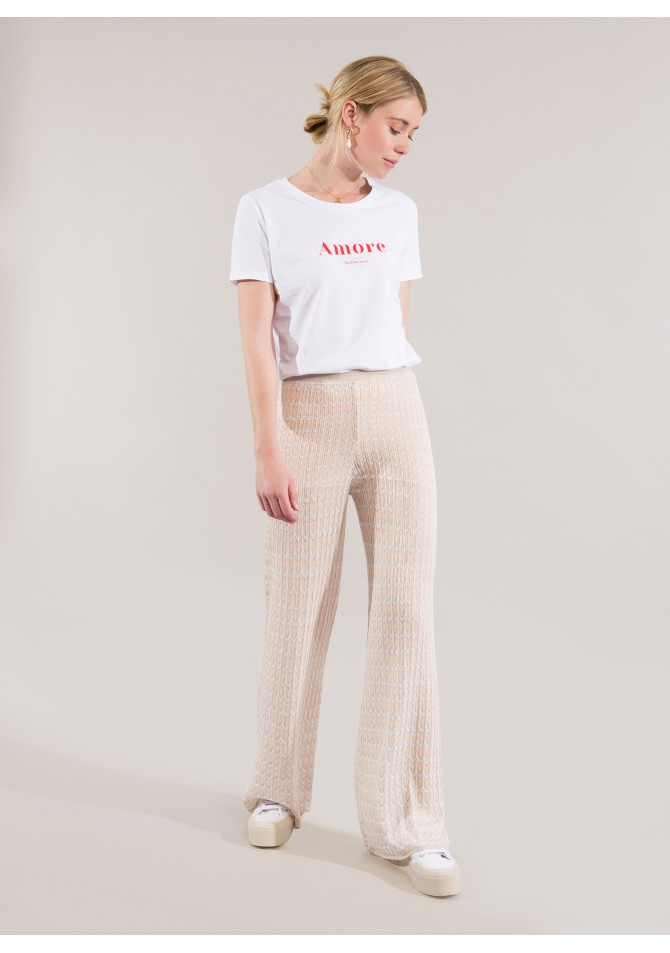 LODENA DIA -Long light knit pant - Reflect X Bari - ANGE