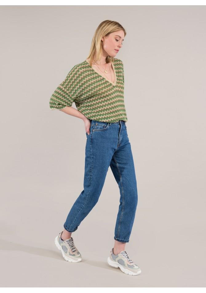 LAZURA - Light knit short sleeves top - Reflect X Venezia - ANGE