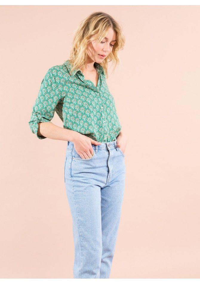 BAYA - 3/4 printed long sleeves blouse - ANGE