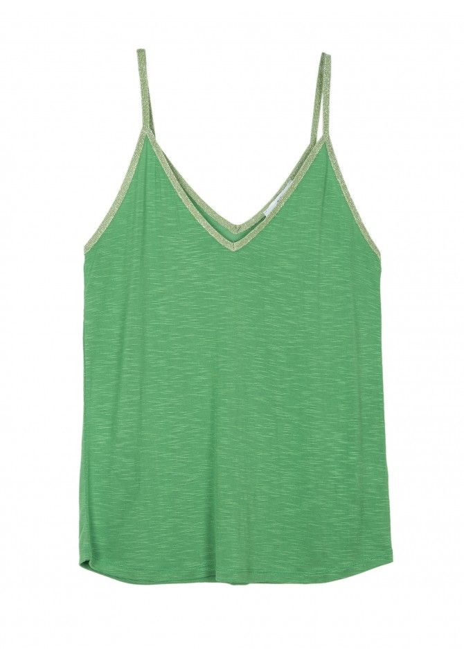 TABBY - Tank top with shinny details on straps - ANGE
